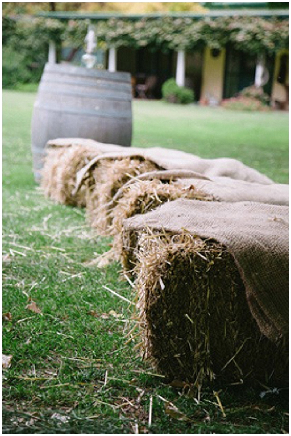 hessian wedding ideas cover hay bales in hessian for outdoor seating