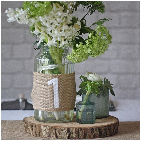 hessian wedding ideas hessian table numbers