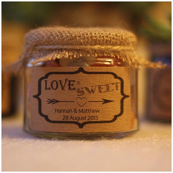 hessian wedding ideas lid of jam jar burlap