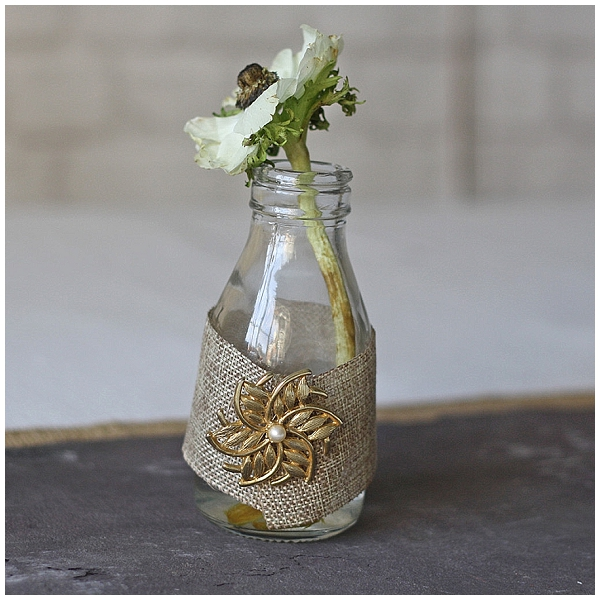 hessian wedding ideas wrap hessian around bottles and vases