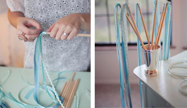 how to make ribbon wands diy weddings