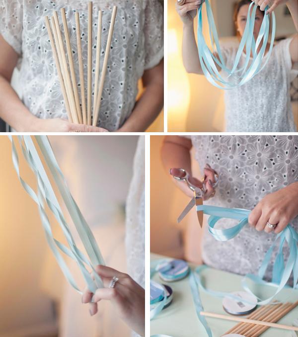 how to make ribbon wands weddings diy
