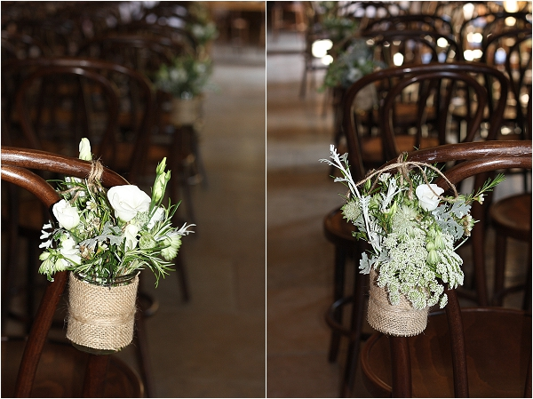 jam jars hessian pew ends aisle decorations rustic barn wedding the wedding of my dreams