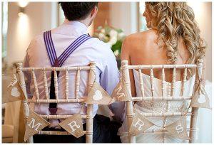 mr mrs chair back hessian wedding ideas