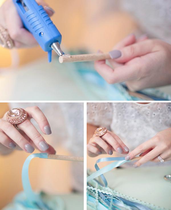 ribbon wands diy weddings step by step guide