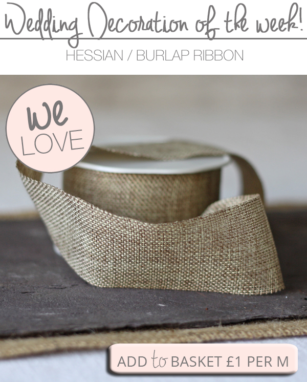 roll of hessian ribbon for sale