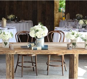 rustic bark vases rustic barn wedding ceremony shustoke farm barns the wedding of my dreams
