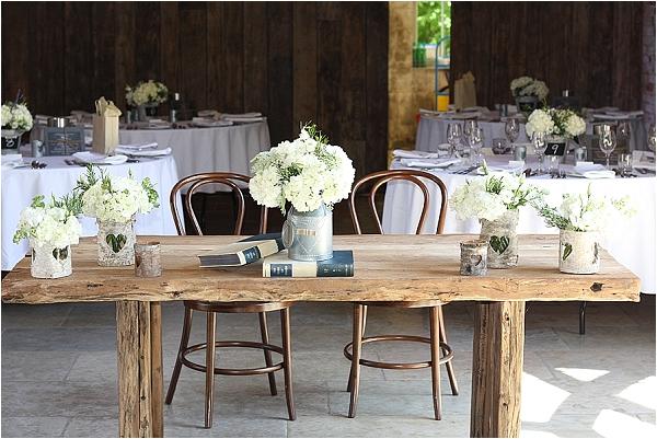 Rustic Bark Vases Barn Wedding Ideas Ceremony Shustoke Farm Barns The Of My Dreams