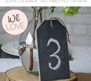 slate wedding table numbers