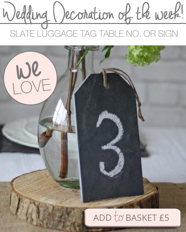 slate wedding table numbers