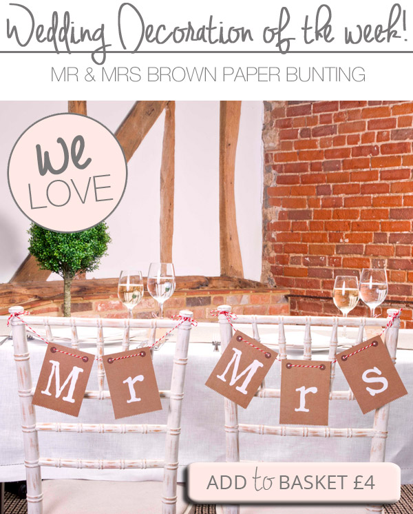 mr and mrs wedding bunting brown bunting chair backs