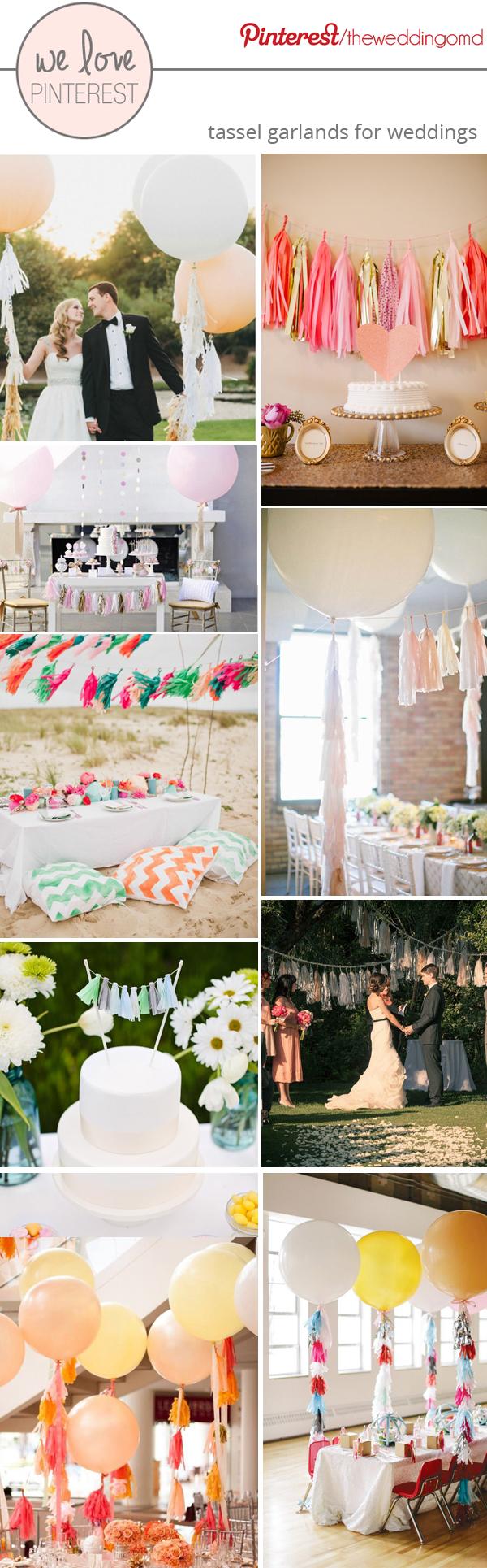 wedding tassel garlands