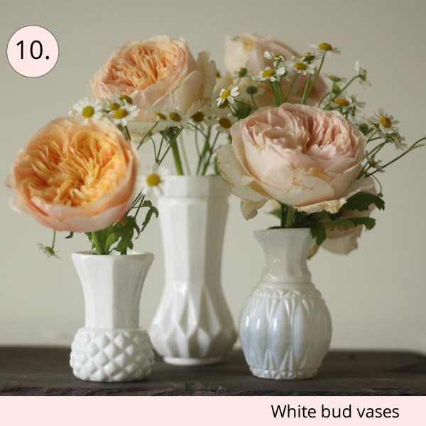 white bud vases weddings - 15 wedding centrepieces for under 15 pounds (budget friendly centrepieces)