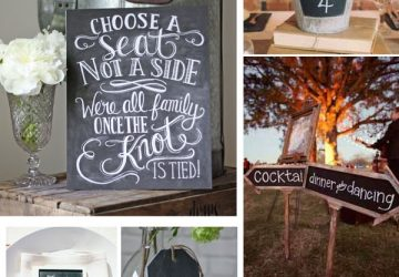chalkboard wedding decorations
