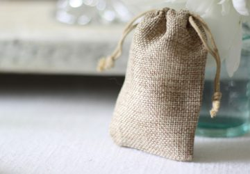 hessian wedding favour bags