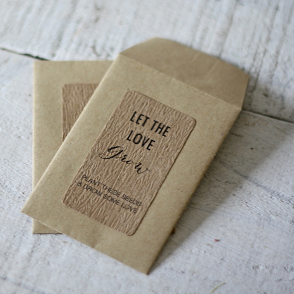 let the love grow weding faovur stickers