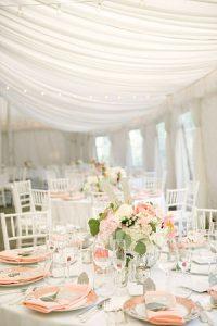 peach grey wedding