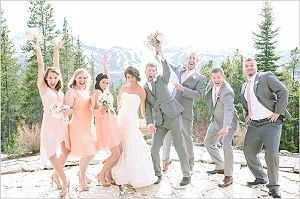 Peach and grey wedding inspiration ideas peach grey wedding junglespirit Gallery