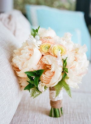 peach grey wedding