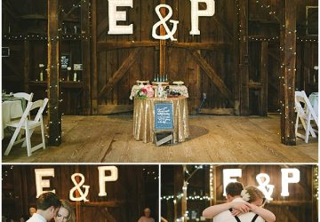 rustic glamour wedding gold glitter decorations
