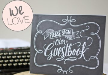 sign our wedding guestbok sign chalkboard