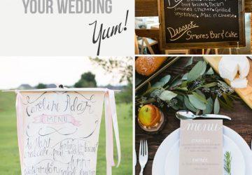 ways to display your wedding menu