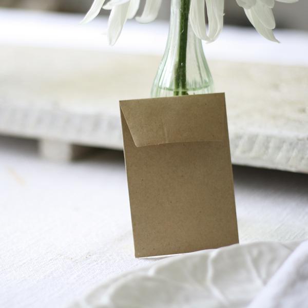 wedding favour envelopes for seeds