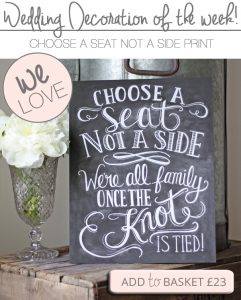 choose a seat not a side wedding ceremony signs