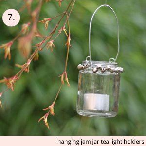 hanging jam jar tea light holders