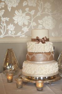 mercury silver tea ligh holders wedding cake table