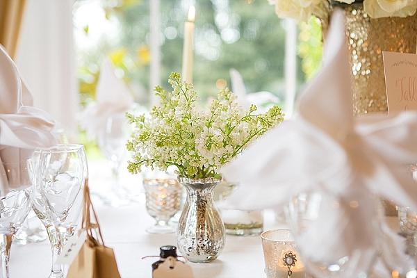 mercury silver vases wedding