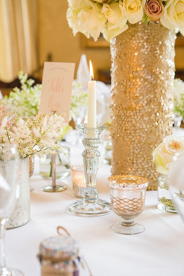 mercury silver votives wedding