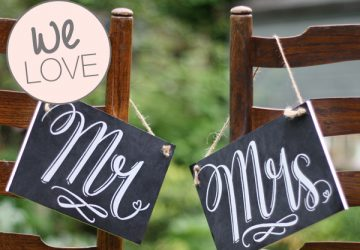 mr and mrs signs for chairbacks chalkboards