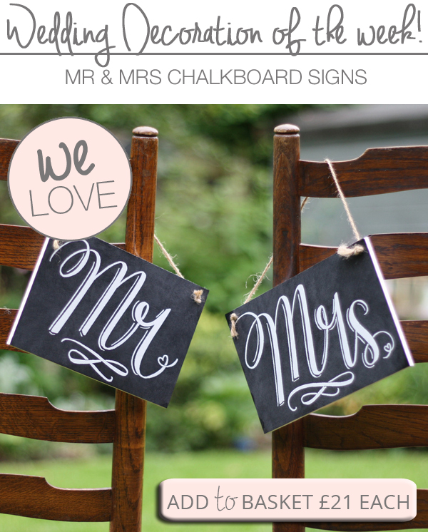 mr and mrs signs for chair backs chalkboards