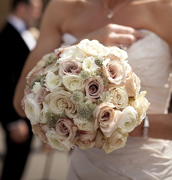 nude rose wedding bouquets