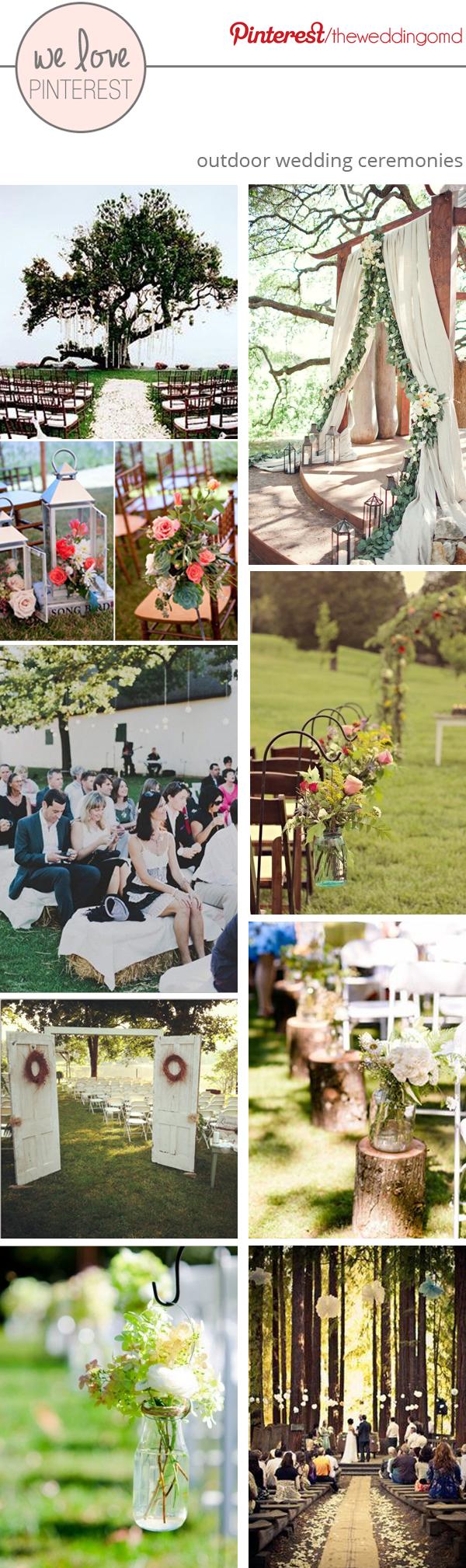 outdoor wedding ceremony ideas for summer