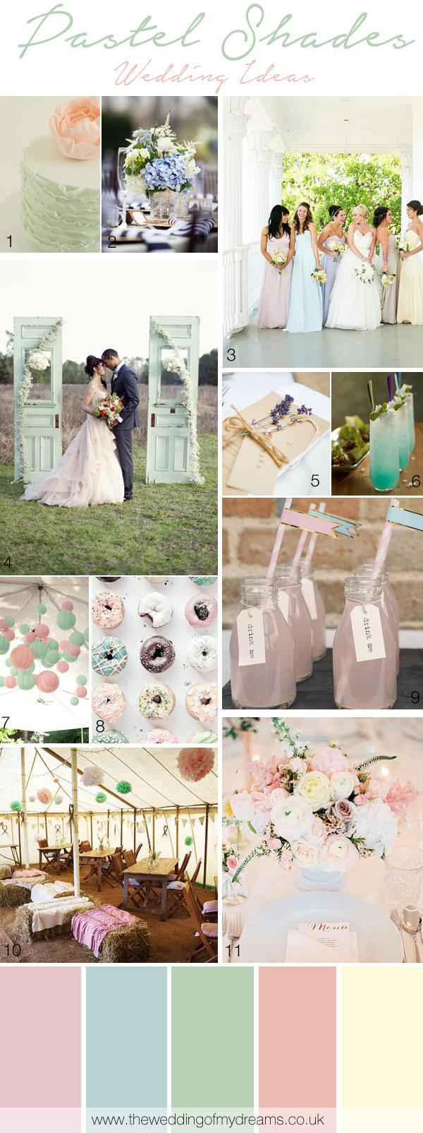 pastel wedding ideas and inspiration