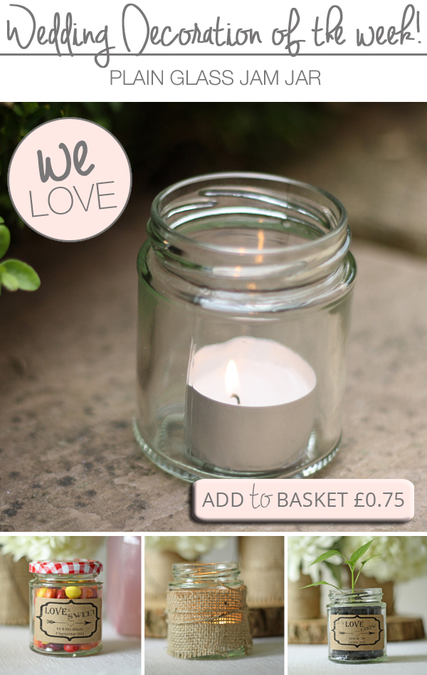 Glass Jam Jars With Lids For Wedding Favours Or Tea Lights