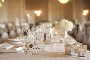 top table mercury silver tea light holders elegant wedding