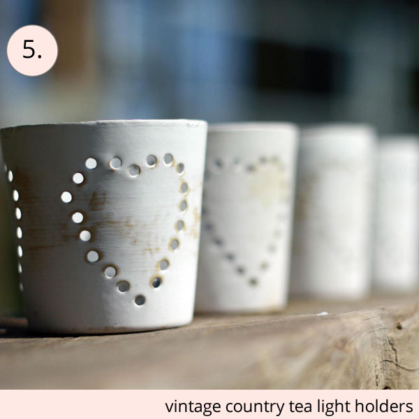 vintage country tea light holders