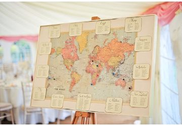 Travel seating chart the wedding of my dreams blog world map wedding table plan used at real weddings gumiabroncs Choice Image
