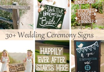30 wedding ceremony signs ideas