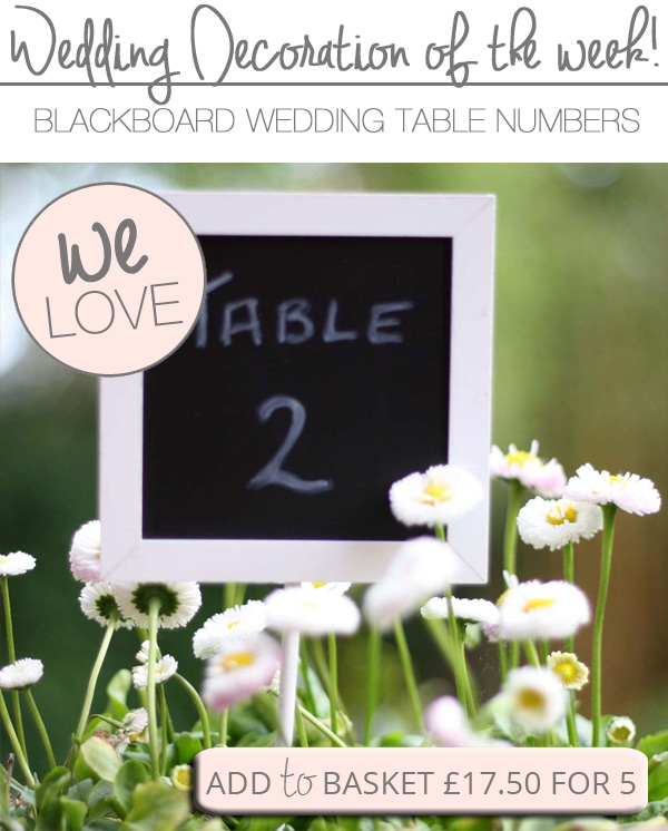 blackboard signs for table numbers