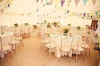 english country garden marquee wedding decorations