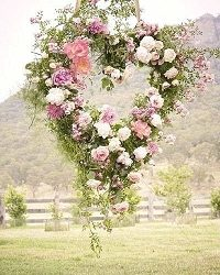 english country garden wedding decorations just love this hanging floral heart