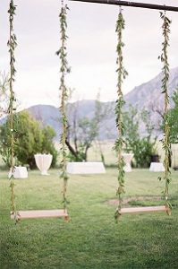 english country garden wedding decorations swings