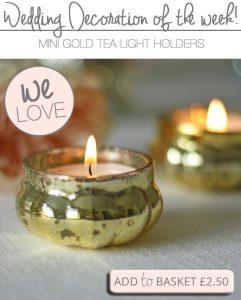 gold tea light holders for weddings