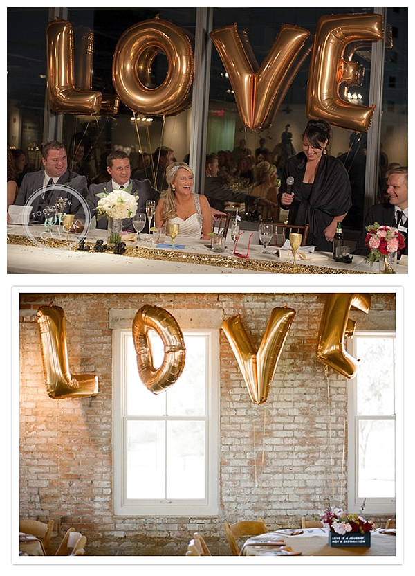gold wedding balloons for sale LOVE