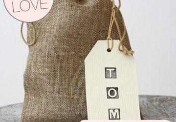 hessian drawstring bags for weddings