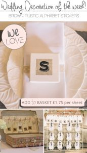 rustic brown alphabet letter stickers for wedding decorations